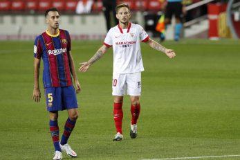 Ivan Rakitić (Sevilla) i Sergio Busquets (Barcelona)/Foto REUTERS