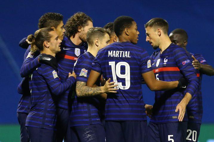Francuzi slave prvi gol u Maksimiru/Foto REUTERS