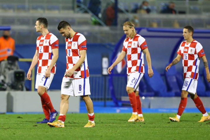 Mateo Kovačić i suigrači istekom utakmice s Francuzima/Foto REUTERS
