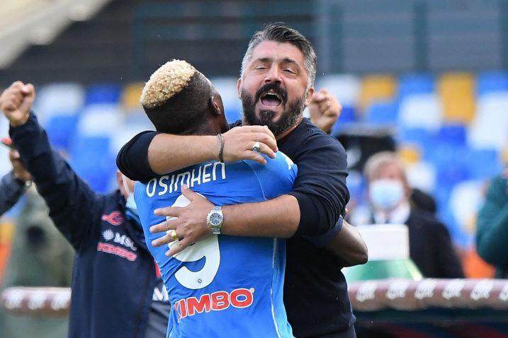 Victor Osimhen i Gennaro Gattuso/Foto REUTERS