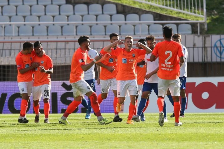 Emir Sahiti slavi pogodak protiv Hajduka/Foto PIXSELL