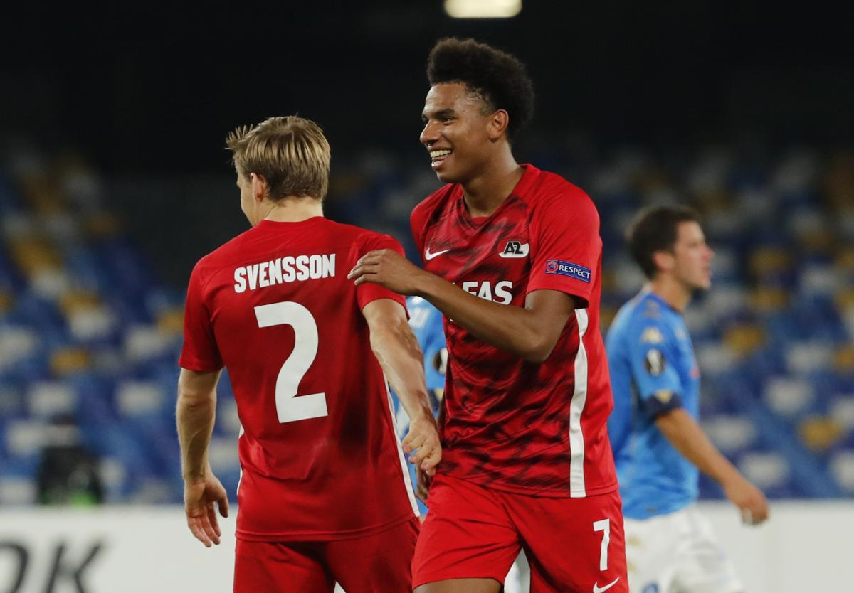Calvin Stengs i Jonas Svensson slave pobjedu/Foto REUTERS