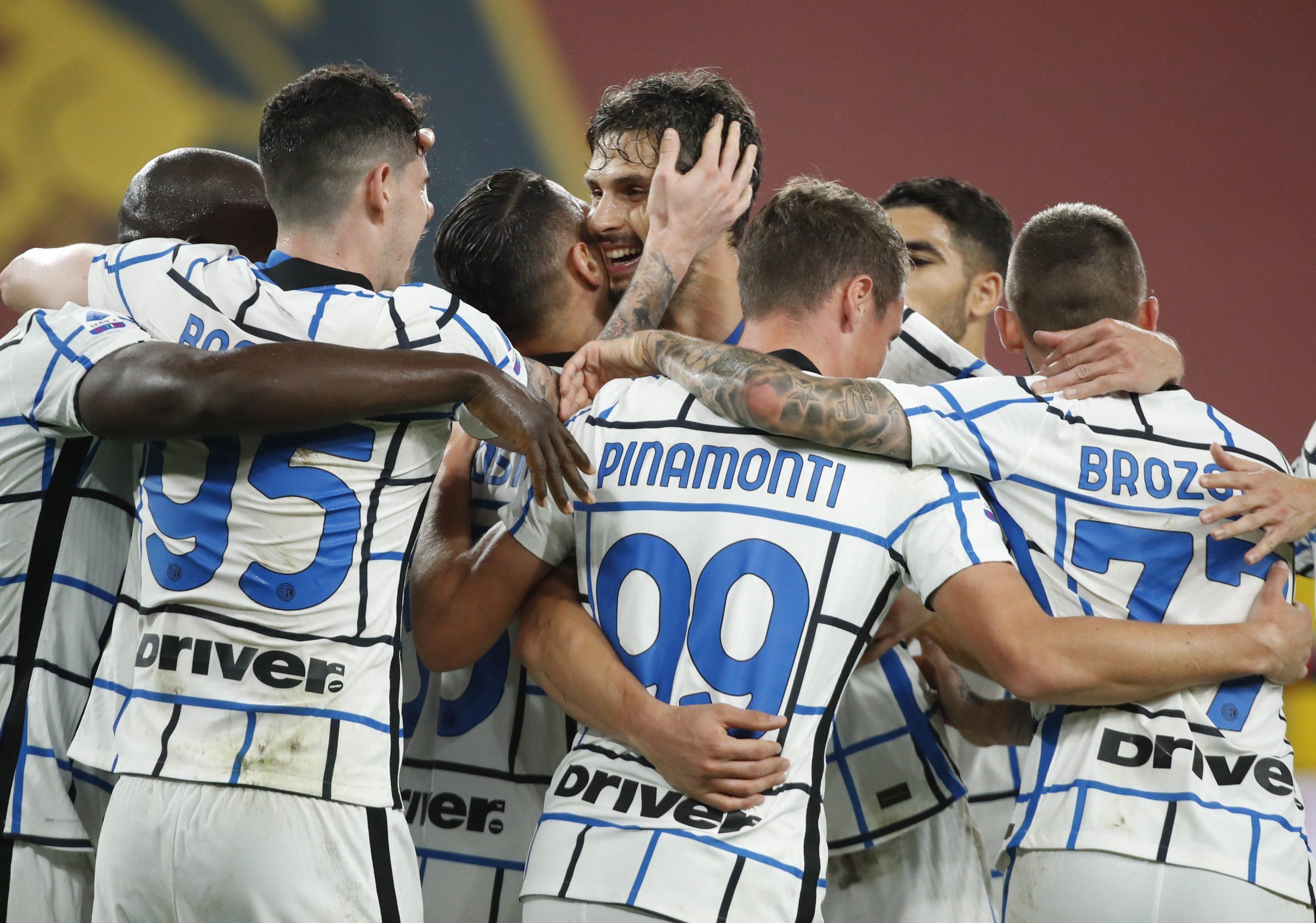 Slavlje igrača Intera u Genoi/Foto REUTERS