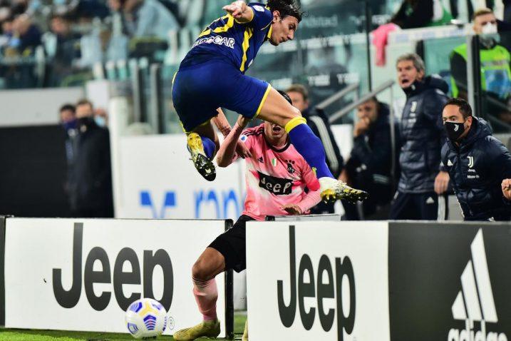 Giangiacomo Magnani (Verona) i Alvaro Morata (Juventus)/Foto REUTERS