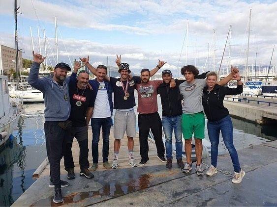 Enrico Marotti i vesela ekipa iz Voloska na splitskoj fešti