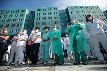 Prosvjed pred bolnicom KB Dubrava / Foto Goran Stanzl/PIXSELL