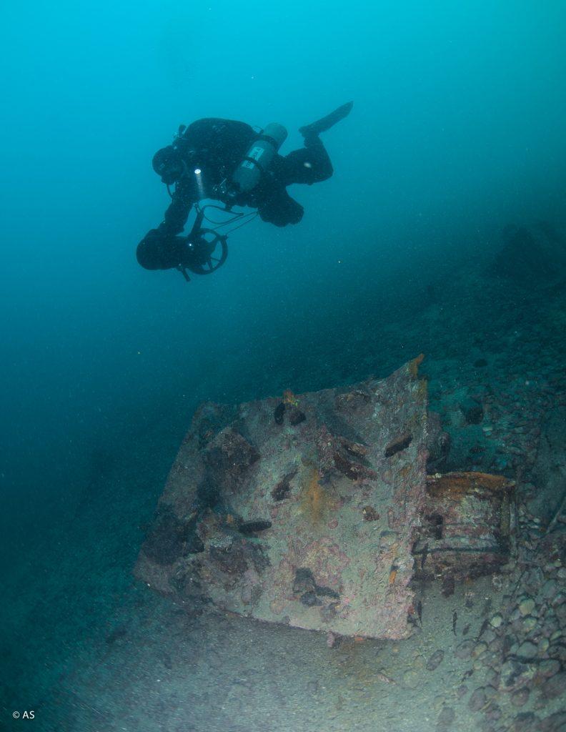 Istraživanje mina u podmorju kraj Pećina / Foto ALEKSANDAR STANCIN
