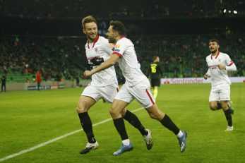 Ivan Rakitić slavi svoj pogodak/Foto REUTERS