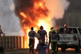 Bolid Romaina Grosjeana se zapalio na VN Bahreina/Foto REUTERS