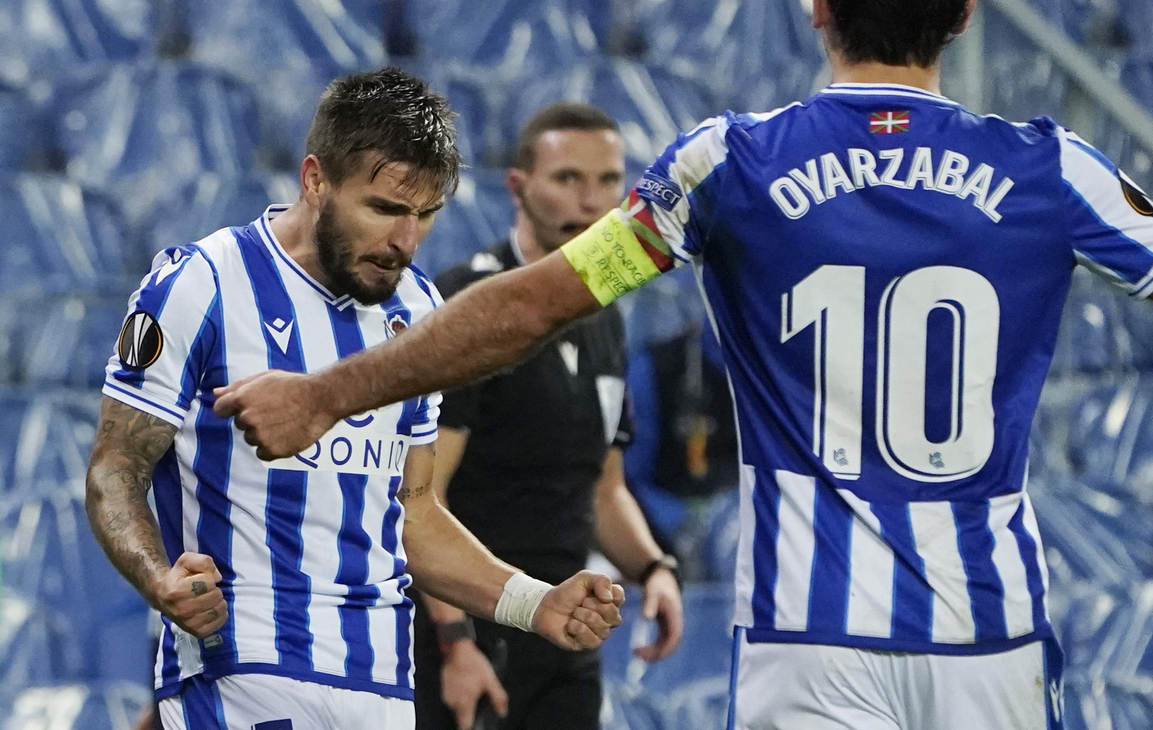 Cristian Portu i Mikel Oyarzabal/Foto REUTERS