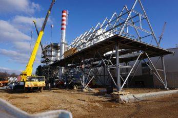 Instaliran je i najsloženiji dio opreme, tzv. modul predgrijača težine 60 tona i duljine 22 metra / Foto : M. SMOLČIĆ