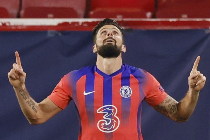 Olivier Giroud postigao je četiri pogotka u Sevilli/Foto REUTERS