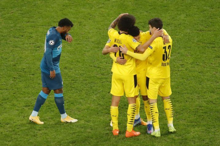 Nogometaši Borussije (D) slave pogodak/Foto REUTERS