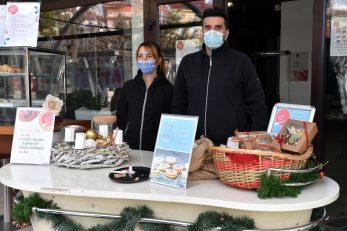 : Mihaela i Renato, konobari kavane Inter koja dostavlja jedino kolače i torte / Snimio Damir ŠKOMRLJ