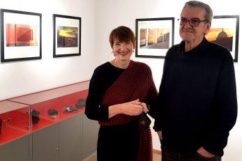 Tanja Frančišković i Boris Toman na otvorenju izložbe / Foto MARKO GRACIN