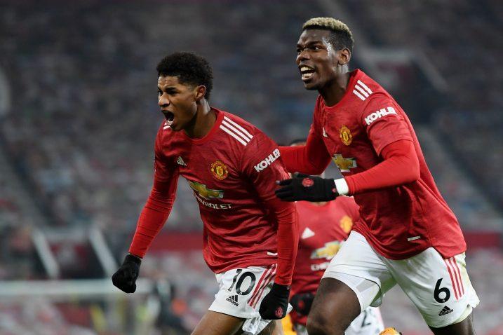 Marcus Rashford i Paul Pogba (Man. United)/Foto REUTERS