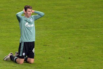 Matthew Hoppe (Schalke 04) nakon propuštene prilike/Foto REUTERS