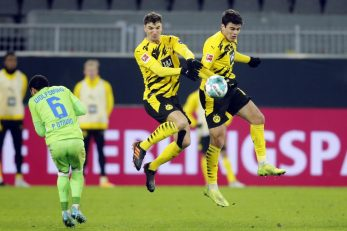 Thomas Meunier i Giovanni Reyna (Borussia D.) u akciji/Foto REUTERS