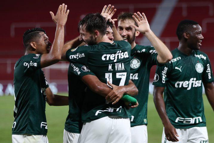 Slavlje igrača Palmeirasa/Foto REUTERS