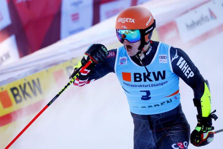Filip Zubčić slavi u Adelbodenu/Foto: REUTERS
