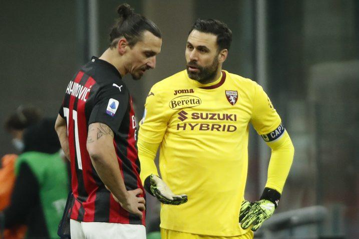 Zlatan Ibrahimović i vratar Torina Salvatore Sirigu/Foto REUTERS