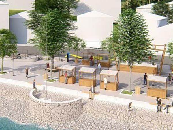Vizualno rješenje uređenja trga u Iki i manjeg dijela obalne šetnice