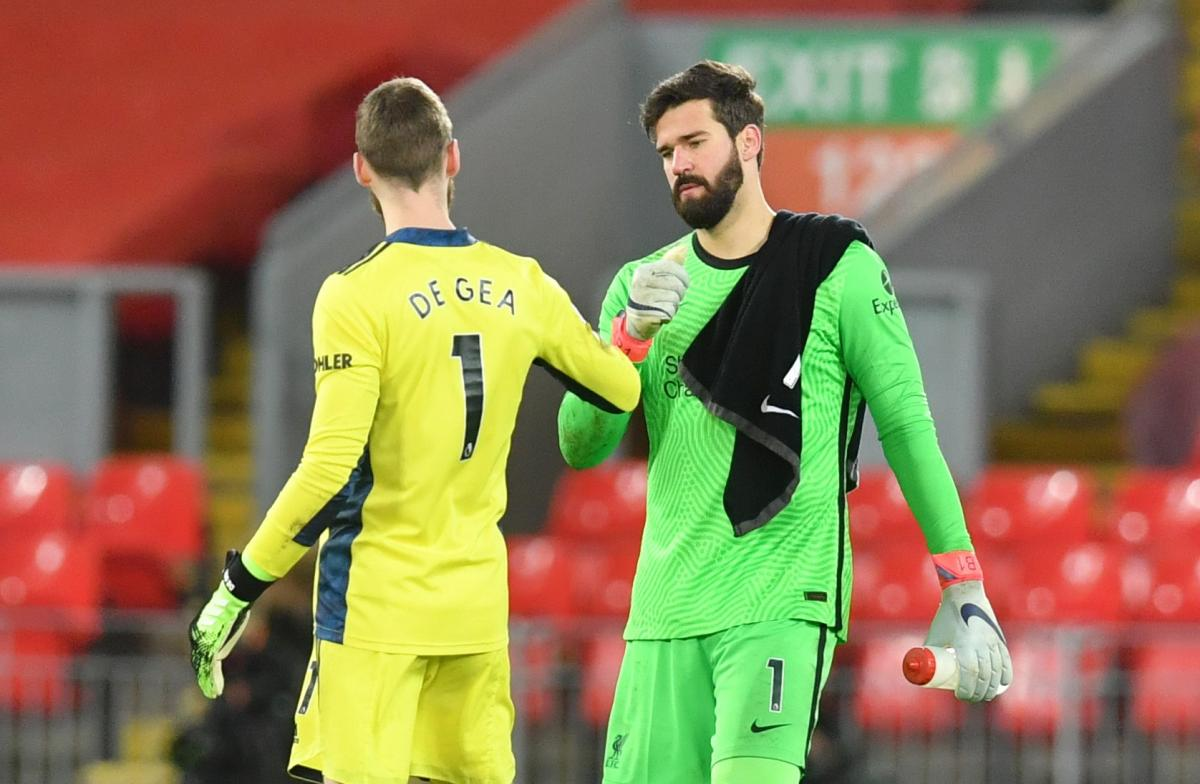 David De Gea i Alisson/Foto: REUTERS