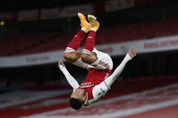 Pierre-Emerick Aubameyang slavi pogodak/Foto: REUTERS