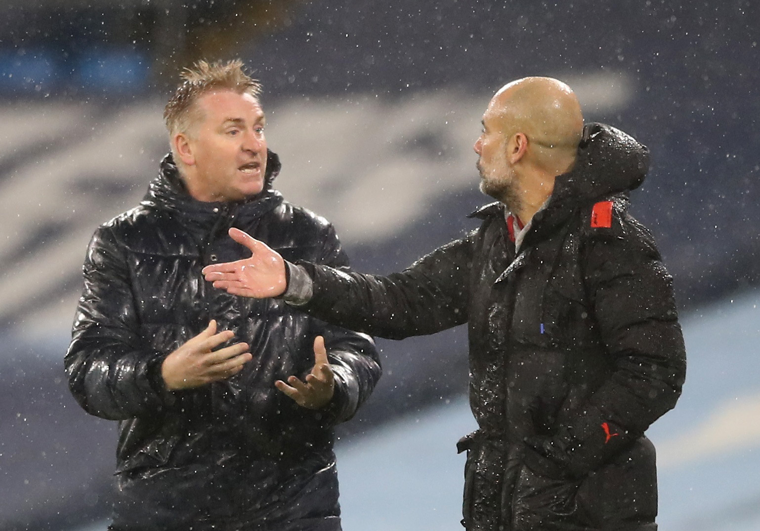 Dean Smith i Pep Guardiola/Foto REUTERS