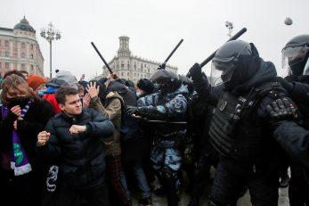 Prosvjed i policijska akcija u Rusiji / Reuters