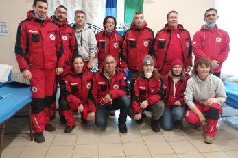 Interventni tim volontera Crvenog križa s područja Primorsko-goranske županije na Baniji