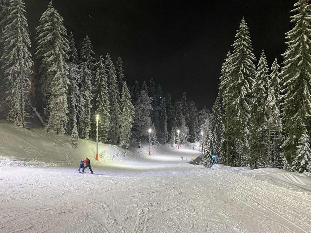 Noćno skijanje na Jahorini / Snimio čitatetlj