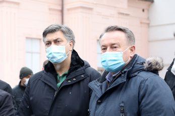Andrej Plenković i Ivo Žinić / Edina Zuko/PIXSELL