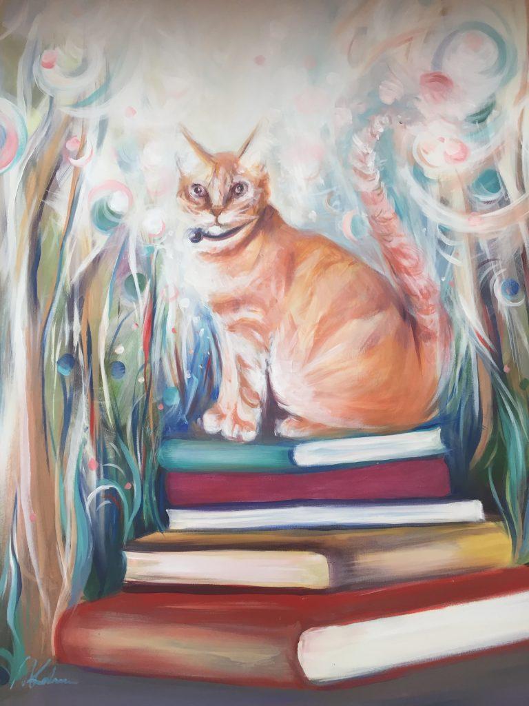 Službeni portret knjižničnog mačka / Foto GKC