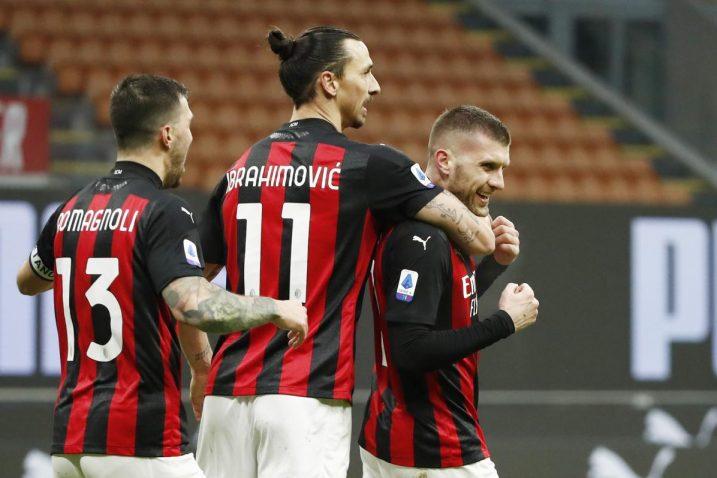 Zlatan Ibrahimović i Ante Rebić/Foto: REUTERS