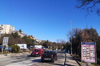 Nova cesta kraj osnovne škole u Opatiji, gdje će biti postavljena sigurnosna kamera / Foto A. KUĆEL-ILIĆ