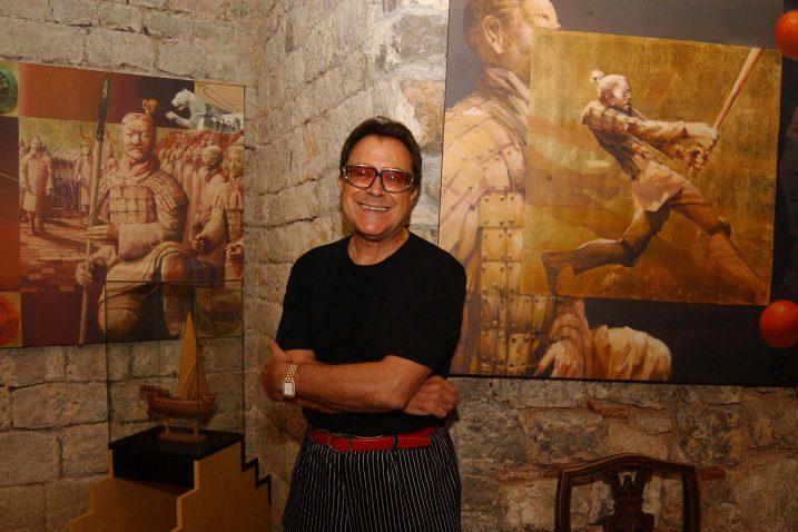 Charles Bilic iz sretnijih lovranskih dana kad je u Kuli imao galeriju Fortezza / Foto NL ARHIVA