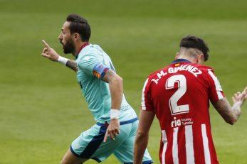 Jose Luis Morales slavi pogodak/Foto: REUTERS