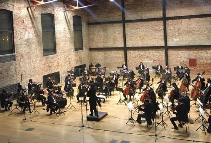 Zagrebačka filharmonija prilikom nastupa u Laubi / Foto ZFILH