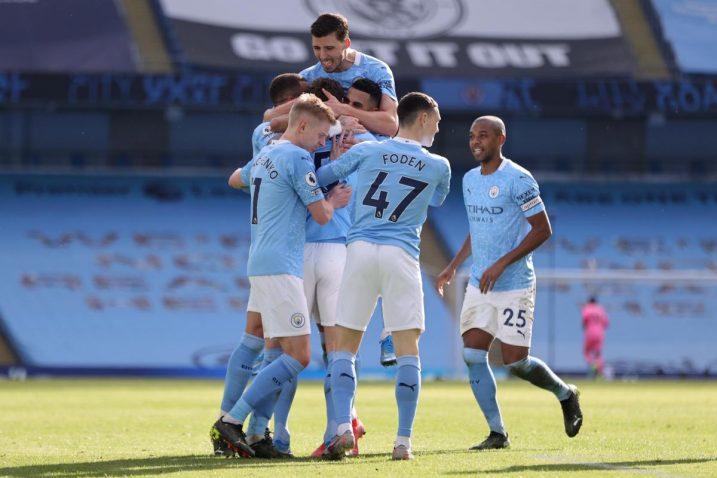 Slavlje igrača Manchester Cityja/Foto: REUTERS