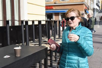 »Rezervirala« mjesto na terasi Pomery bara – Zorica Josipović / Foto SERGEJ DRECHSLER
