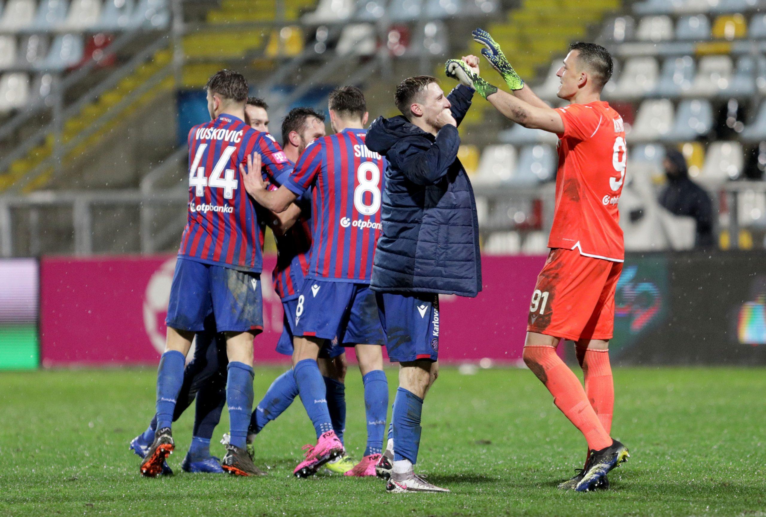 Hajdukovci slave Caktašev pogodak na Rujevici/Foto PIXSELL