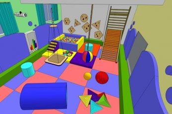 Ilustracija senzorne sobe