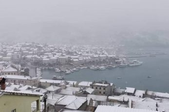 Vela Luka pod snijegom / Foto Facebook