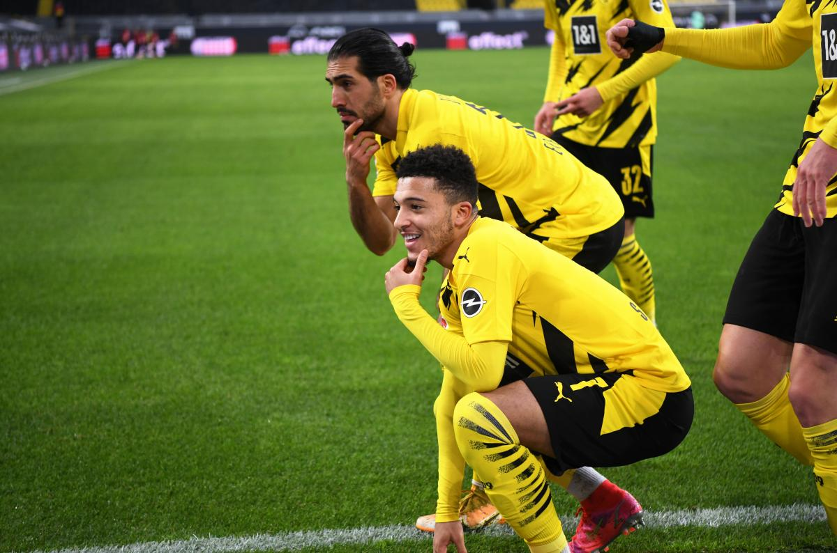 Jadon Sancho i Emre Can/Foto REUTERS