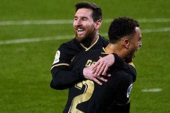 Leo Messi i Sergino Dest/Foto: REUTERS
