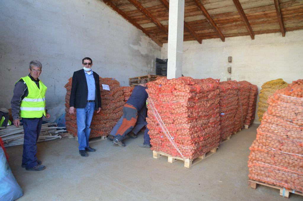 Jučer je u Vrbovsko stigao šleper s 25 tona sjemenskog krumpira pa je počelo razvrstavanje / Foto M. KRMPOTIĆ