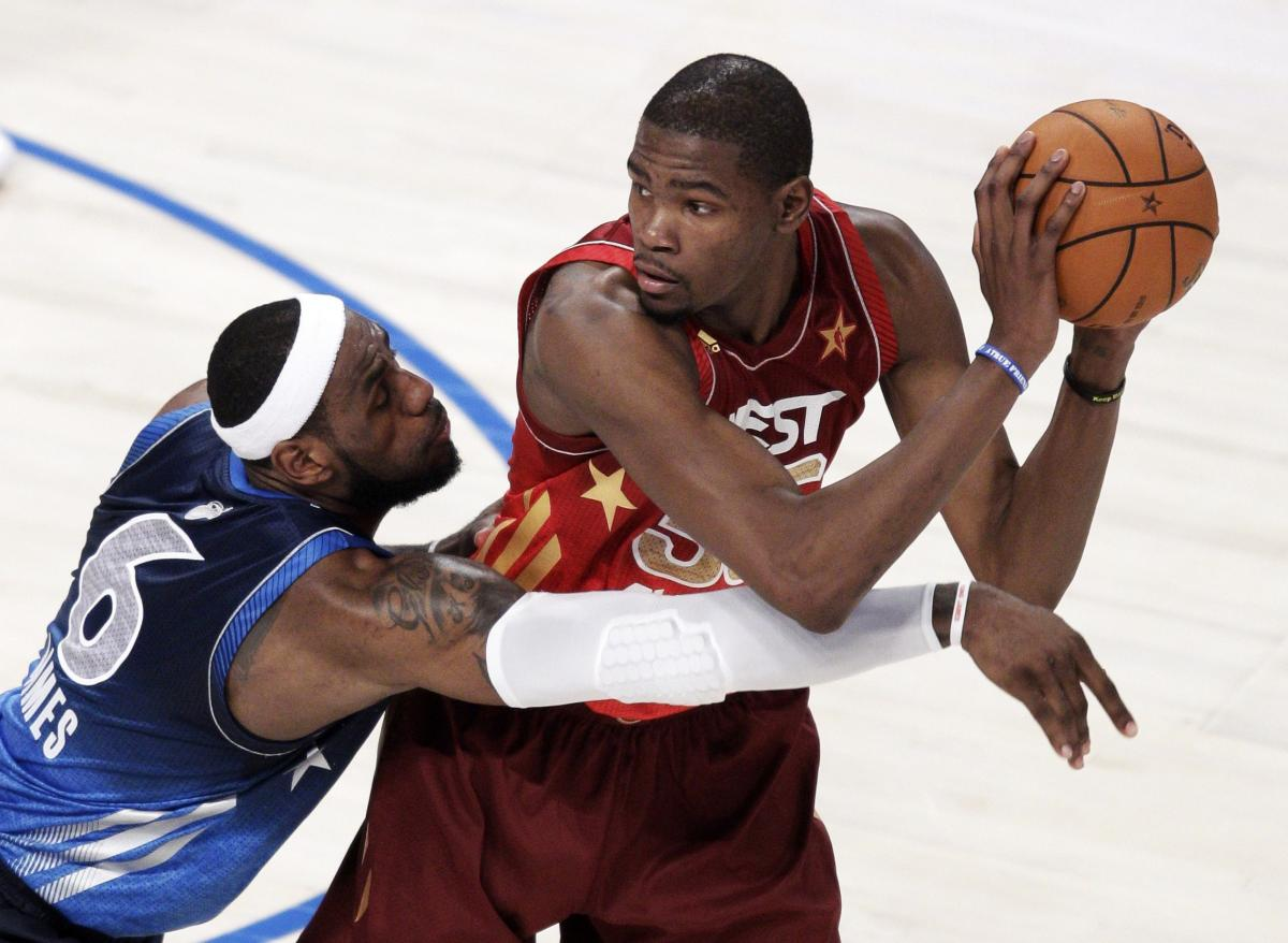 LeBron James i Kevin Durant/Foto: REUTERS
