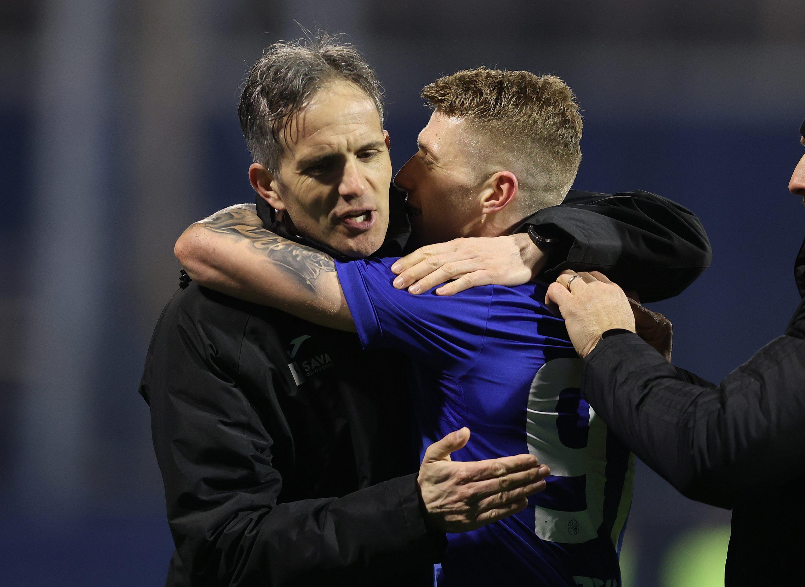 Trener Rijeke Goran Tomić i veznjak Dinama Kristijan Jakić mogli bi se ponovo sresti, ali u finalu Kupa/Foto PIXSELL