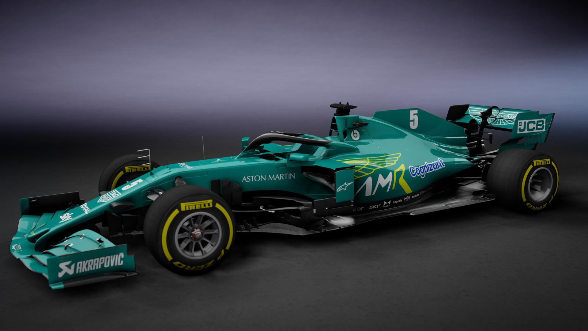 Aston Martin bolid